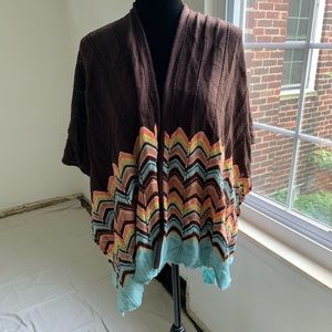 MISSONI for TARGET one size cape shawl cardigan